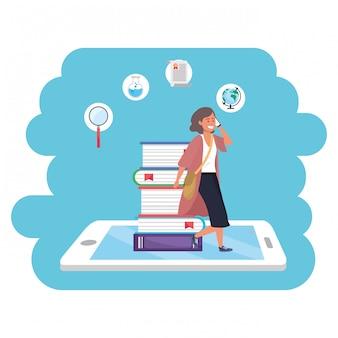 オンライン教育ミレニアル世代のタブレット