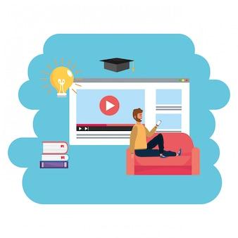 Интернет-страница обучения тысячелетнего студента