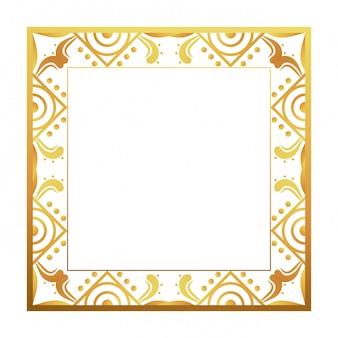 Изолированная рамка в стиле арт-деко