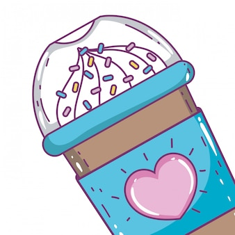 孤立したアイスコーヒーマグカップ