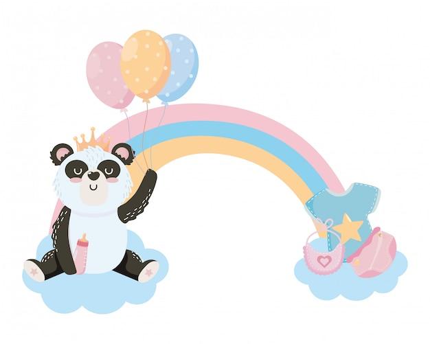 ベビーシャワーのシンボルとパンダ