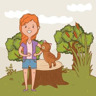 子供時代の幸せな子供漫画