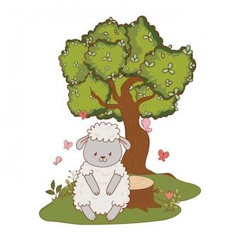Милый маленький мультфильм животных