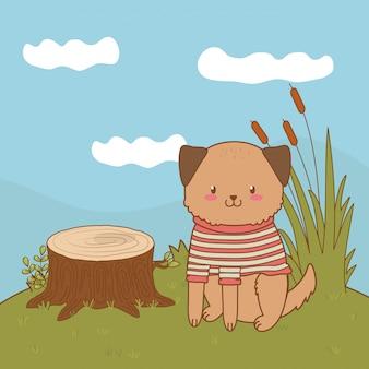 かわいい小さな動物漫画