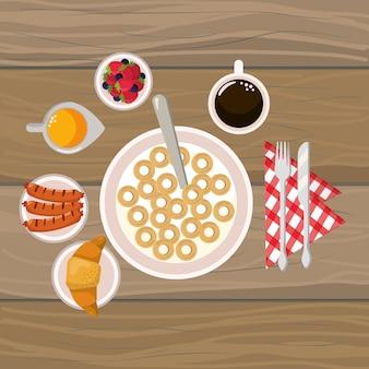 Вкусный вкусный завтрак из мультфильма