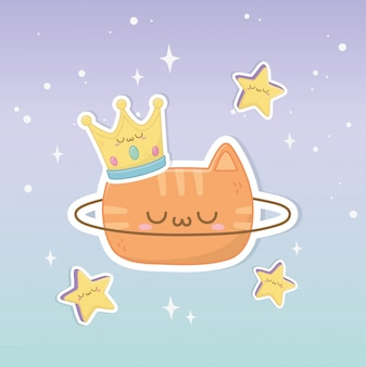 クラウンかわいいキャラクターと面白いファンタジー猫