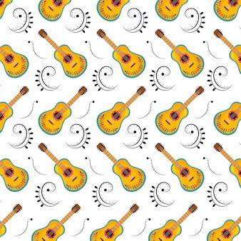メキシコ文化のギターパターン