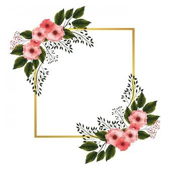 バラの花のフレーム