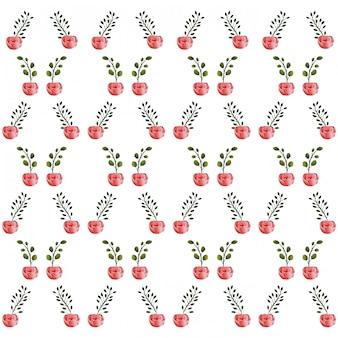バラの花柄