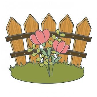 花の自然の花の漫画