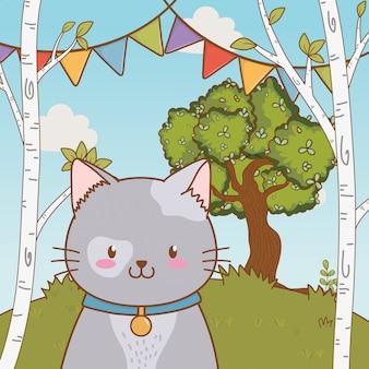 かわいいペット動物漫画イラスト