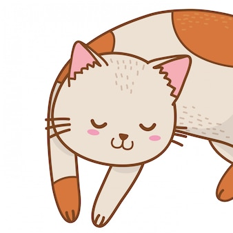 かわいいペット動物漫画のベクトル図