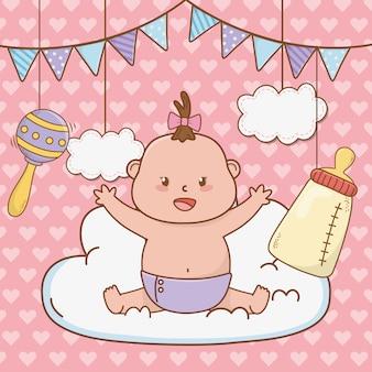 かわいいベビーシャワー漫画