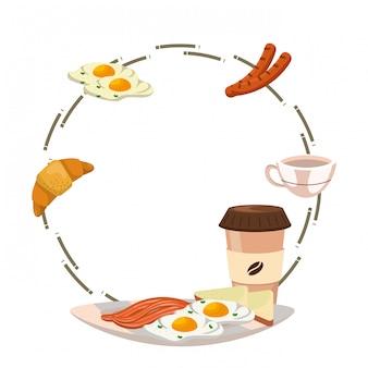 おいしいおいしい朝食フレーム漫画