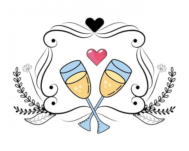 Бокал шампанского мультфильм