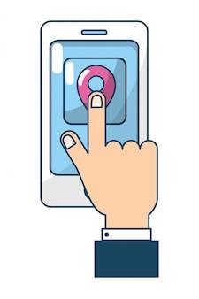 技術のスマートフォンの漫画