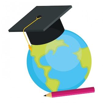 学校の世界地図漫画