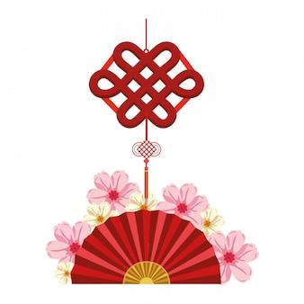 中国のファンと装飾ペンダント