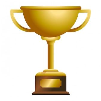 木製の箱にトロフィーカップ賞