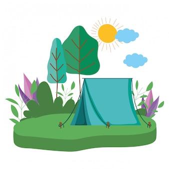 テントとキャンプ