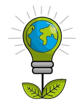 Изолированная экологическая лампочка