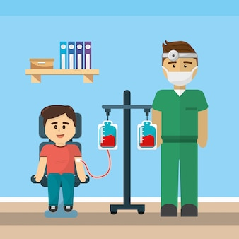 診療所と献血