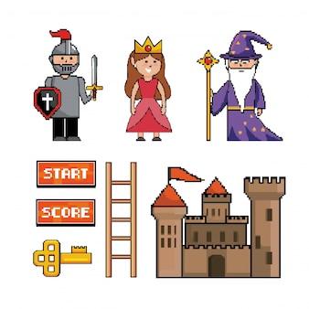 Набор волшебной волшебной палочки с сэром и принцессой
