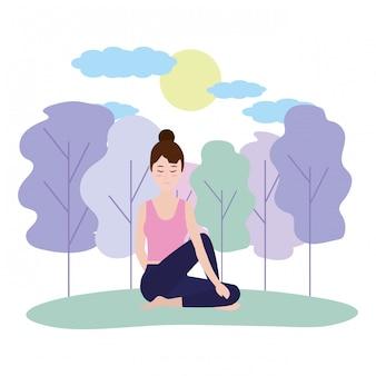 Женщина йоги