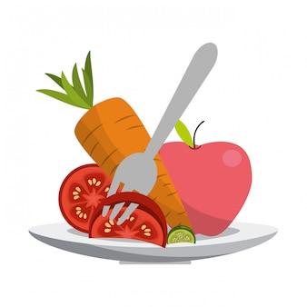 野菜の健康的な食事