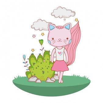 バレリーナ猫屋外漫画