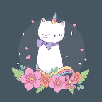 Милый катикорн с цветочным декором