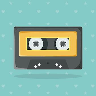 レトロな音楽カセット