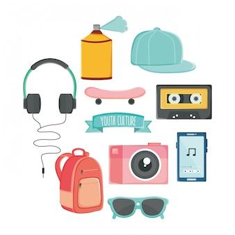 Набор стиля молодежной культуры