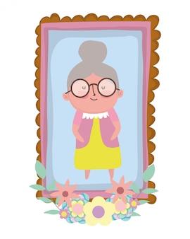 祖母の漫画のキャラクター