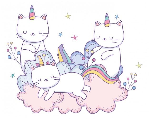 Единороги кошек мультфильмы