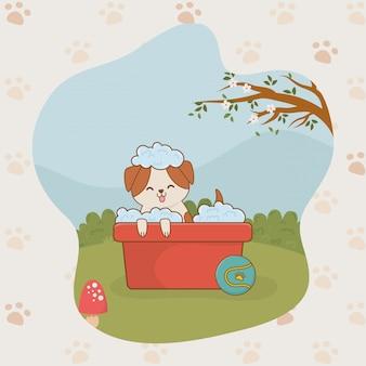 かわいい小さな犬のマスコットキャラクター