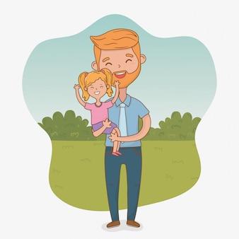 父と娘のキャラクター
