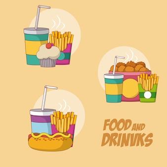 Набор продуктов питания и напитков