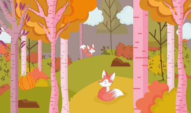 Привет осенние листья сезон плакат