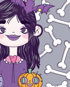 Ведьма девушка угощение или хэллоуин