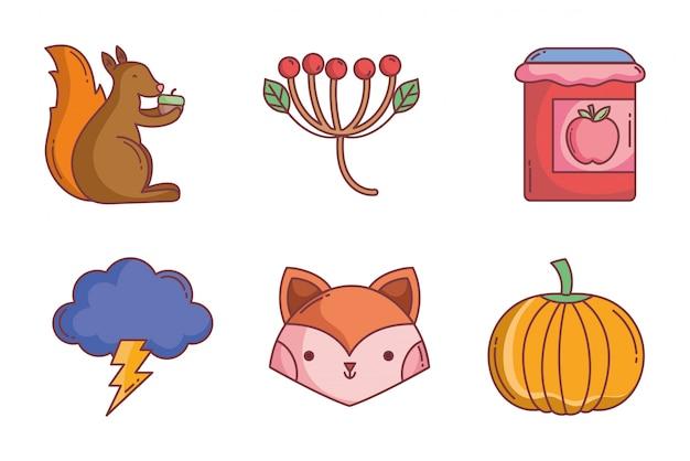こんにちは秋のアイコンコレクション