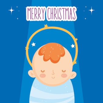 Милый ребенок, иисус, ясли, рождество, с рождеством