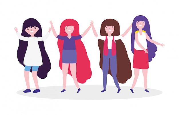 Девочки мультики силовые и сильные