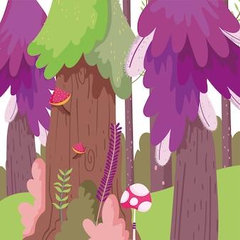 Мультфильм лесной иллюстрации