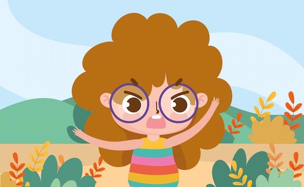 Сцена природы природы выражения маленькой девочки лицевая