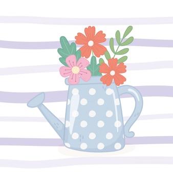 Лейка с цветами