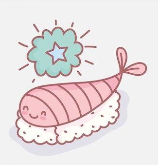 寿司海老キャラクターメニューレストラン漫画食品かわいい