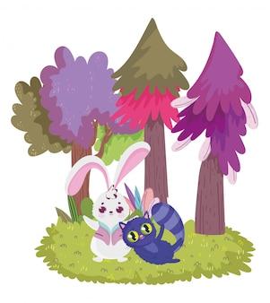 Чудес, кролик и кот сосны мультфильм