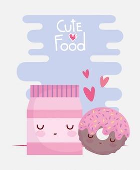 Пакет пончик любовь меню персонажа мультфильм еда мило