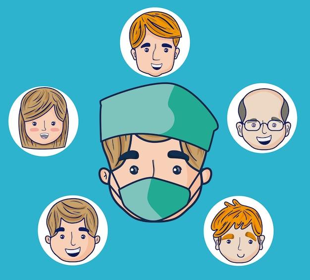 患者の顔をした医者の漫画